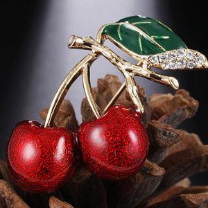 Jewelry - New Rockabilly Twin Cherry Brooch